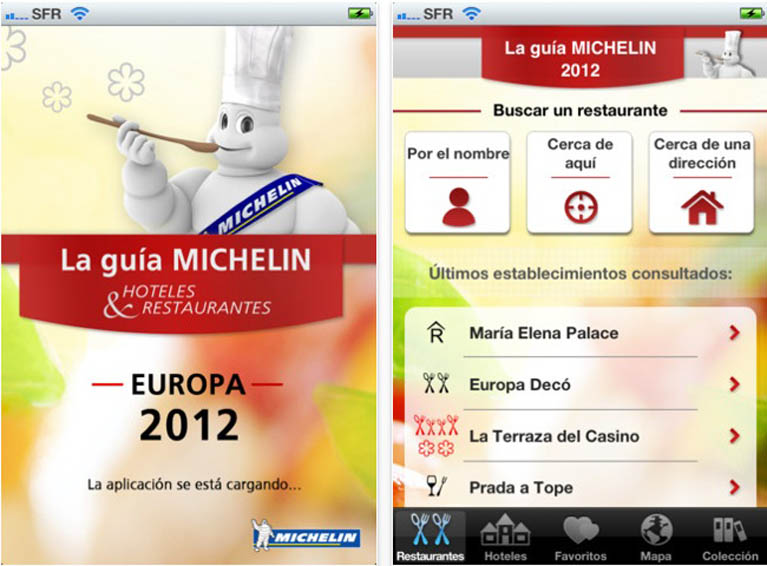 Guías MICHELIN para iPhone
