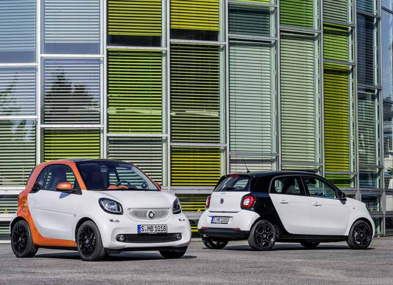 Smart forfour & Smart fortwo